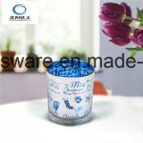 Blue Plating Christmas Day Glass Cup Candle Holder