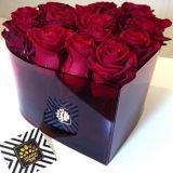 Rectángulo de acrílico de la flor del nuevo del estilo de la manera de tarjeta del día de San Valentín regalo del día