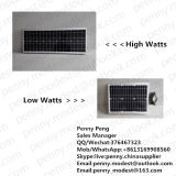 5W-120W Outdoor Luminaria All in One Luz solar de rua solar com sensor de movimento