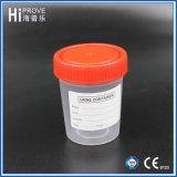 tazza di plastica del campione del contenitore dell'urina della protezione rossa 60ml