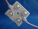 Decoración de coches de inyección de 4 LEDs módulo LED con lentes escarchadas