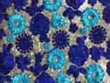 결혼 예복을%s 추가 색깔 정선한 자수 꽃 레이스 직물