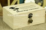 Caixa de presente de madeira personalizada da caixa da madeira contínua do vintage