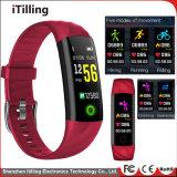 Mode Sport fitness personnalisés OEM numériques Smart montre avec la fréquence cardiaque/surveillance du sommeil/Podomètre/Rappel/sédentaire de la pression artérielle