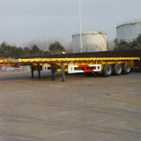 полуприцеп контейнера Axle плоской кровати 3 40FT