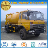 Dongfeng 6 dreht 15 Tonnen Absaugung-Abwasser-LKW-15 Kiloliter-Vakuum-LKW