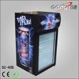 Vitrine de réfrigération Glasea unique en comptoir (SC-40B)