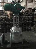 Valvola a saracinesca allineata plastica elettrica poco costosa del cuneo dell'azionatore di prezzi Dn500 Pn16