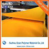 Жесткий ПВХ желтого цвета пленки для печати этикеток