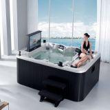 Baquet chaud moyen de Monalisa avec la STATION THERMALE de luxe de TV imperméable à l'eau (M-3304)