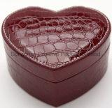 Rectángulo de cuero de la colección de la joyería del corazón del cocodrilo con el espejo