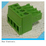 Voie 4 3.5mm 3.81mm Screw Clamp Terminal Blocks
