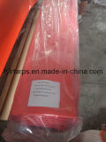 De Dekking van de Vrachtwagen van het Geteerde zeildoek van het polyethyleen, PE het Broodje van Tarp, Oranje PolyGeteerd zeildoek