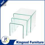 Гостиная мебель кривой стеклянными кофейными таблица мебель Стеклянная мебель