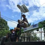 luces solares del jardín de la lámpara de calle de 15-80W LED para la área remota