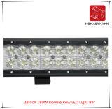 28inch 180W 도로 빛과 LED 모는 빛 떨어져 SUV 차 LED를 위해 방수 두 배 줄 LED 표시등 막대의 LED 차 빛