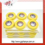 O calor amarelo automotriz resiste a fita de máscara para a proteção da pintura do carro