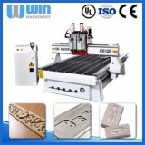 маршрутизатор CNC автомата для резки металла автоматического изменителя инструмента 4axis деревянный