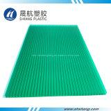 Het populaire Groene Holle Blad van het Polycarbonaat van de tweeling-Muur met UVDeklaag