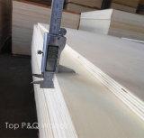 Cara superior del abedul del grado del C2 de la base de la chapa y madera contrachapada posterior del álamo del grado de los muebles