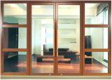ヨーロッパ式の木製カラー防音かHeat-Insulated熱壊れ目のアルミニウム開き窓のドアによってアーチ形にされる上(ACD-022)