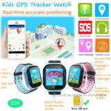 2018人のトーチ(D26)が付いている新しく熱い販売の子供GPSの追跡者の腕時計