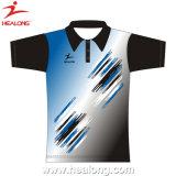 판매를 위해 의복 승화 남녀 공통 폴로 셔츠를 광고하는 Healong 형식 디자인