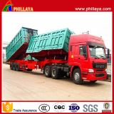 Double Box Side Tipping Semi Trailer / Dump Superlink Trailer