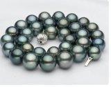 2015年のクリスマスのギフト! 黒い真珠のTahitianの自然な真珠のネックレスの宝石類
