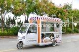 Chariot de nourriture de trois roues avec de belles perspectives à vendre