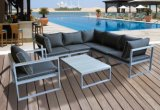 Insieme di vimini della mobilia del patio del sofà esterno del rattan