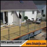 Railing балкона рамки нержавеющей стали стеклянный для сейфа