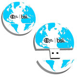 지구 USB 지팡이 USB 지구 관례 USB 플래시 메모리