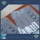 Boleto de papel Ultravioleta-Opaco del descuento de la seguridad para la promoción