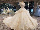 Платье венчания мантии шарика шнурка иллюзиона шикарное