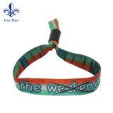 Festival bon marché personnalisé Polyester tissu tissé de bracelet pour l'événement