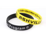 1 pouce avec blanc noir gaufré Qr par bracelet en silicone pour la promotion