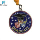 Medallas suaves personalizadas de la graduación del esmalte con la cinta