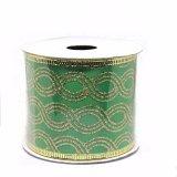 Kundenspezifisches Weihnachtsgrün-Geschenk-Verpackungs-Farbband