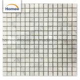 Square de la Chine Fashion Design Bianco Carrara tuile de revêtement de sol en mosaïque de marbre blanc