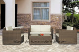 Muebles determinados del marco del PE de la rota del vector al aire libre plano de aluminio del sofá