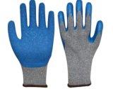 [10غوج] قطر مبلمر رماديّ قشرة قذيفة قفّاز مع زرقاء تجعّد لثأ لأنّ يد عناية