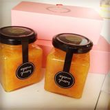 Мини-Cute мед стеклянной тары для мед, соус 25мл, 30мл