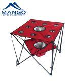 Tabella di picnic di campeggio piegante con i supporti più freddi di tazza e del sacchetto (MW12015)
