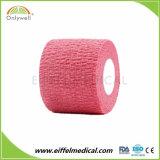 100% algodão bandagem elástica coeso com marcação & ISO e FDA