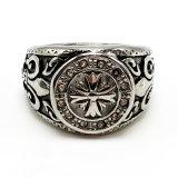 Ring van de Juwelen van de Manier van het roestvrij staal van de mens de Punk Zilveren