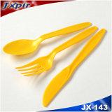 Jeux remplaçables de couverts dans la couleur jaune (couteau, fourche, cuillère)