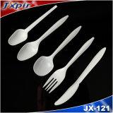 Jx121 PP 포크, 칼, 숟가락, 찻숱가락을%s 가진 플라스틱 칼붙이 세트