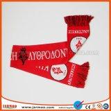 スポーツ・ファンのアクリルの編まれたジャカードサッカーのフットボールのスカーフ