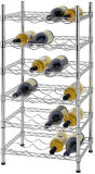24 Flaschen-Halter-Wein-Zahnstangen-stapelbarer Stahlspeicher mit 6 Reihe-Wein-Bildschirmanzeige-Regalen